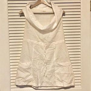 Anthro LAmade White Cowlneck Swim Cover Dress